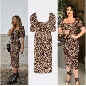 Zara Midi Leopard Dress